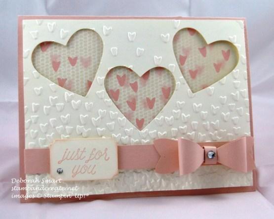 Valentine's Day card Heart Trio