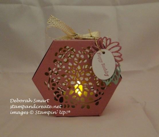 Window Box tealight holder in Sweet Sugarplum