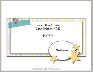 Paper Craft Crew sketch challenge #232