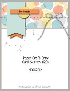 PCC234 Paper Craft Crew Sketch Challenge