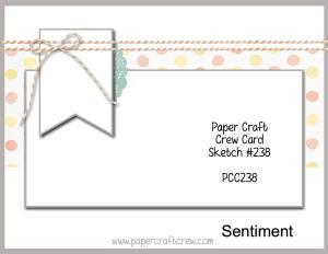 Paper Craft Crew Sketch Challenge PCC238