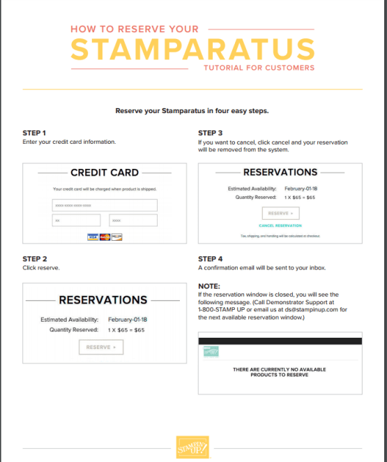 Reserve Your Stamparatus Today!