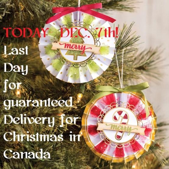 Reminder- Christmas shipping