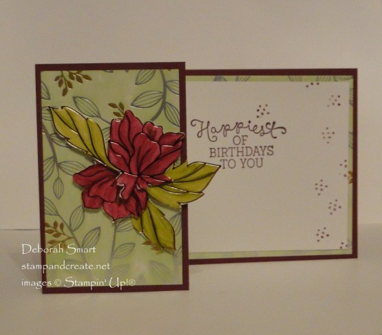 Z Fold Card with Springtime Foils