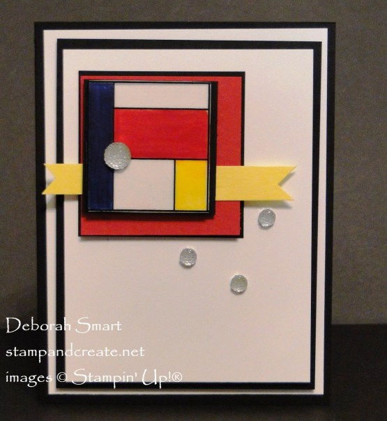 Paper Craft Crew Sketch Challenge Mondrian Inspired