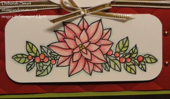 Watercolour Peaceful Poinsettia