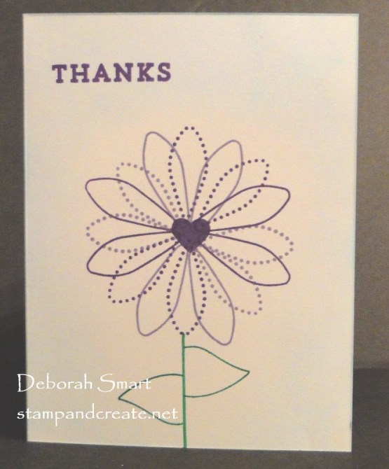 Quick and Easy Thank You Card