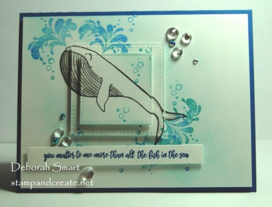 Today's Share A Whale of a Card
