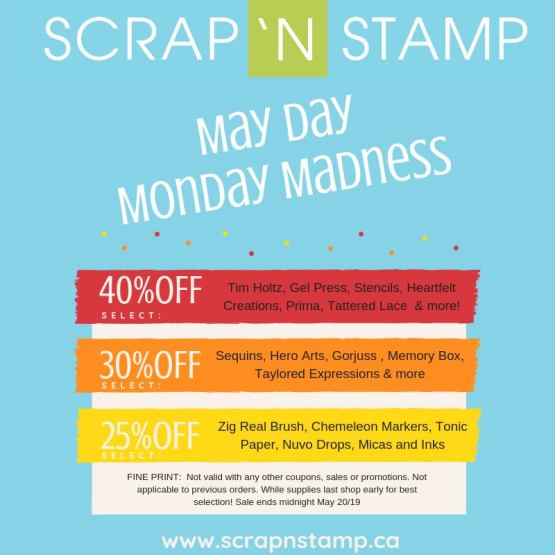 May Day Monday Madness Sale!