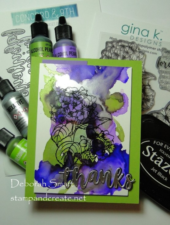 Stamping On Alcohol Ink Backgrounds