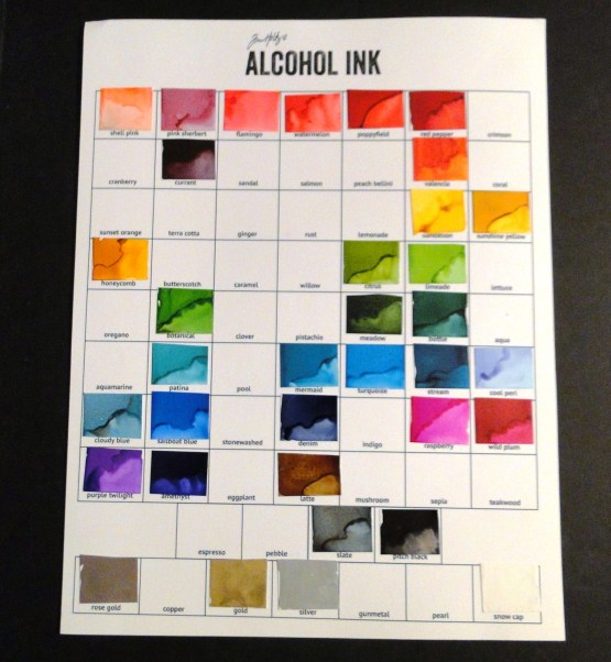 Create Swatches of Your Alcohol INks