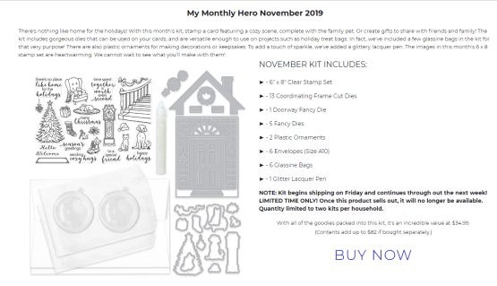 November My Monthly Hero Kit