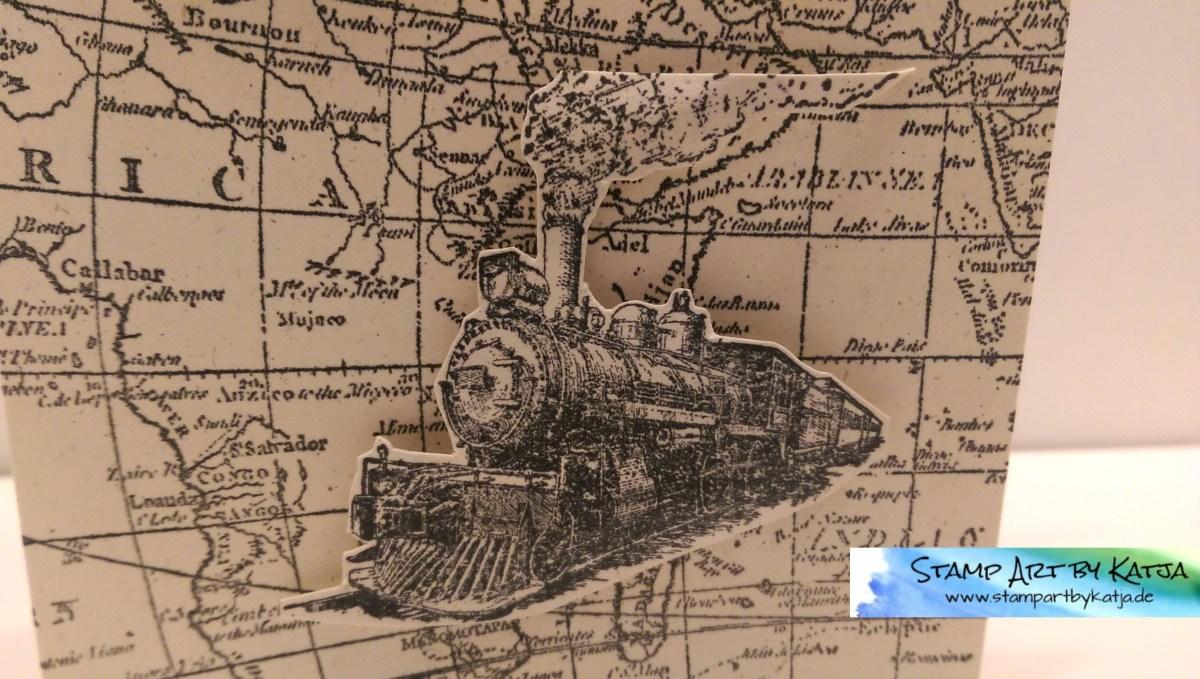 Männergeburtstagskarte -World Map, Traveller