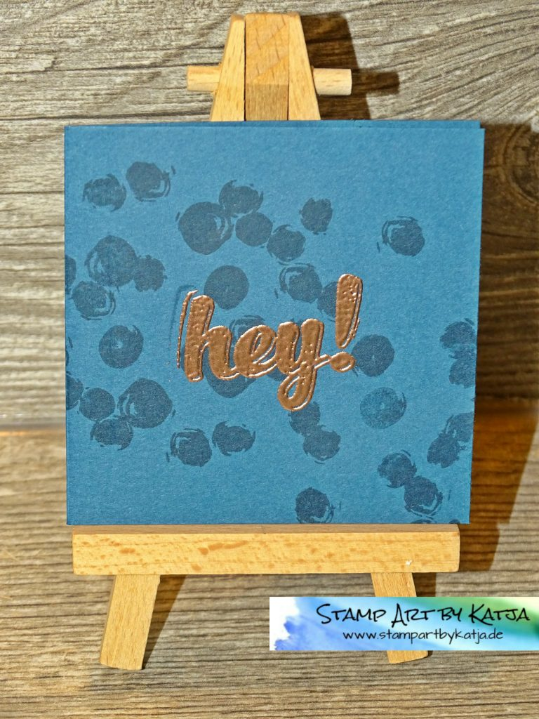 Stampin' Up! Playful Backgrounds & Hi There_blau