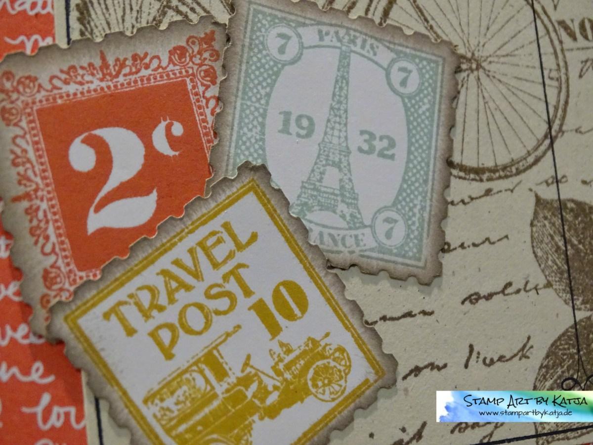 Geburtstagskarte für einen Briefmarken-Fan