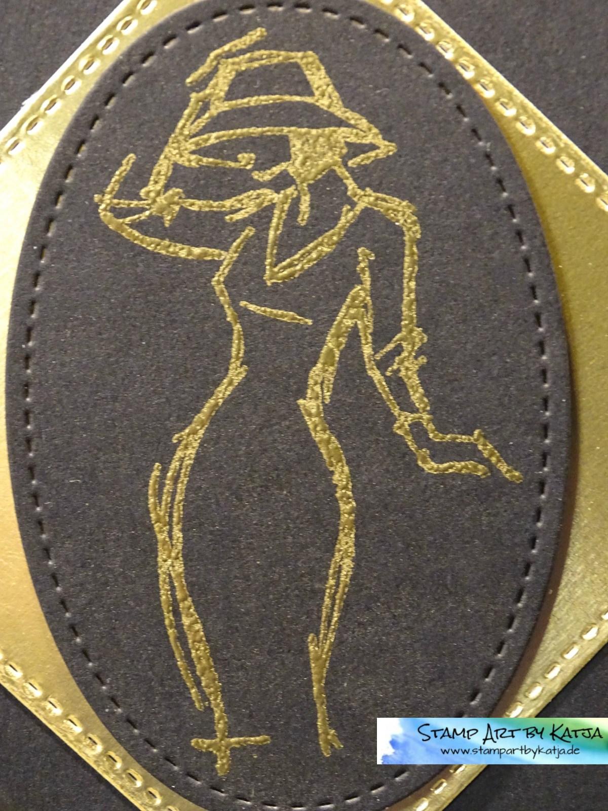 Elegante Geburtstagskarte in Schwarz & Gold