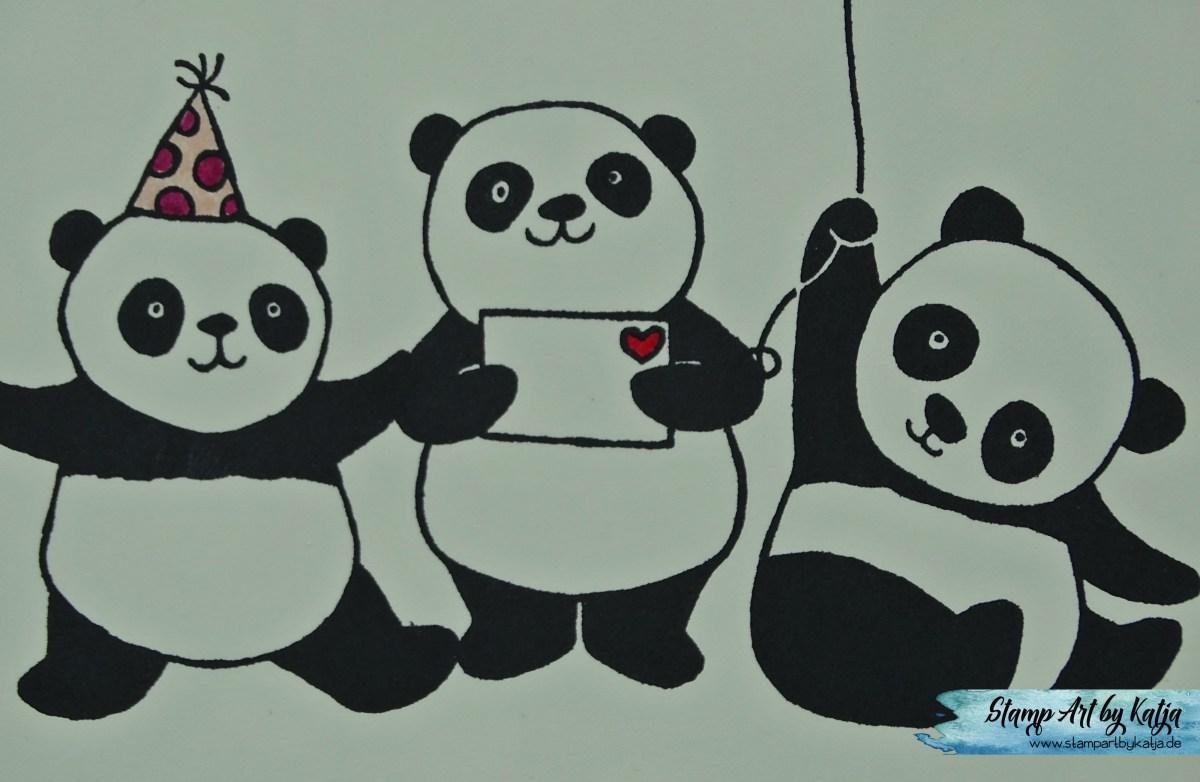 Geburtstagswünsche mit den Party Pandas