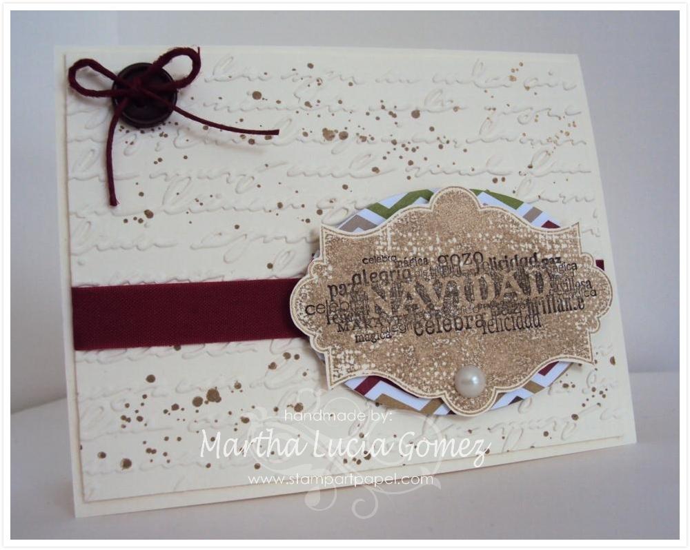 Ideas para navidad, manualidades con papel, tarjetas hechas a mano, stampartpapel, tutoriales de stamping, videos de stamping, stampartpapel, sellos en espanol