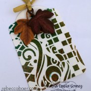 FALL TAG WITH STENCIL AND TEXTURE