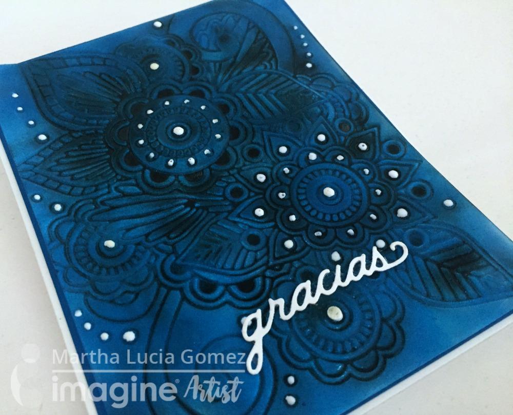 BLUE VERTIGO CARD