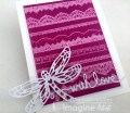 GHOSTING TECHNIQUE - WITH LOVE LACE CARD
