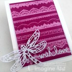 GHOSTING TECHNIQUE – WITH LOVE LACE CARD