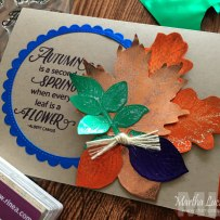 Rinea Autumn Leaves Card