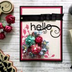 Hello Friends emboss card