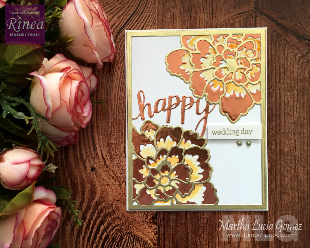 Metallic Wedding Card