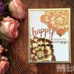 Metallic Wedding Card