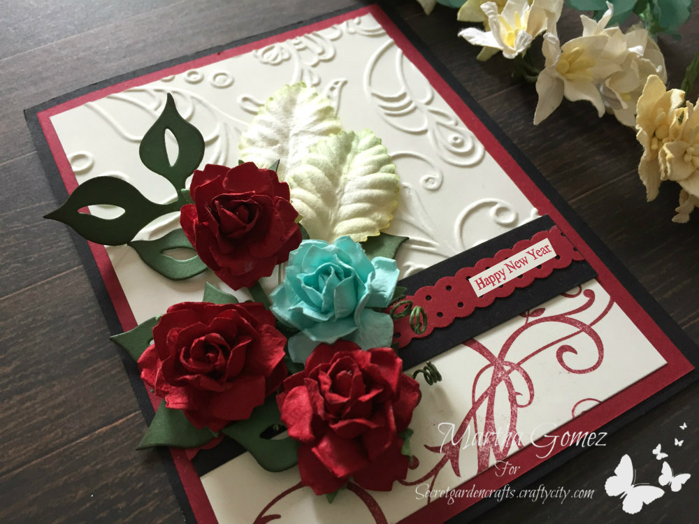 Happy New Year Card - Secret Garden