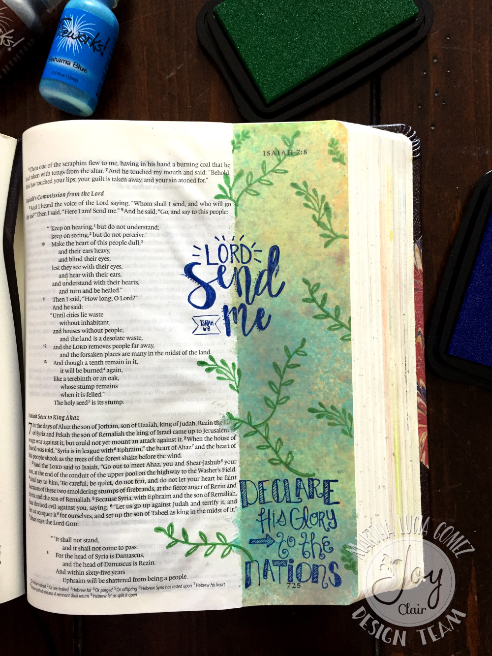 CHRISTMAS TAGS AND BIBLE JOURNALING
