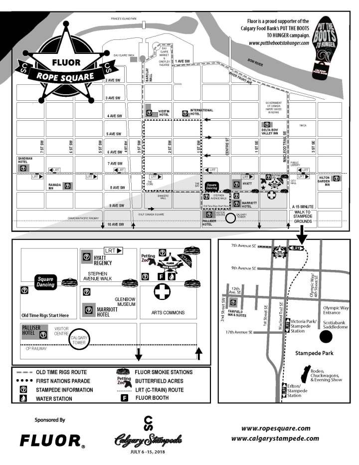 Stampede Downtown Locations at Flour Rope Square
