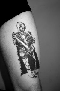 Skeleton Warrior Tattoo