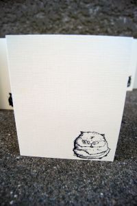 Morbidly Obese Cat Greeting Card