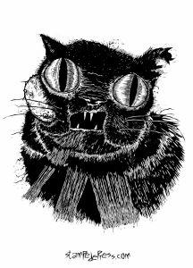 Tumor Face Black Cat