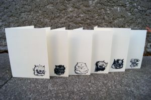 Diseased Cat Stationary Cards