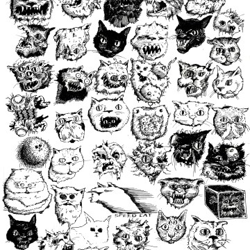 42 cats drawing