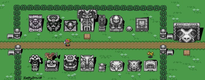 The Legend of Zelda: A Link to the Past Stone Statuary