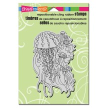 CRP303 Cling Jellyfish Stamp