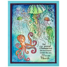 Octopus and Jellyfish by Fran Seiford