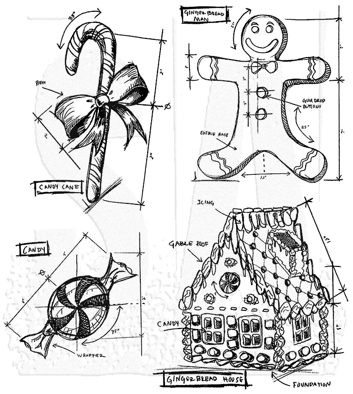Tim Holtz Cling Mount Stamps Christmas Blueprint 3 CMS169