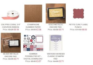 Stampin Up Weekly Deals 26 June 14