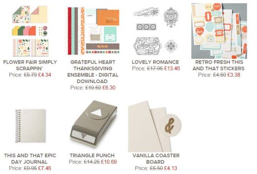 Stampin' Up! UK Weekly deals November 2014