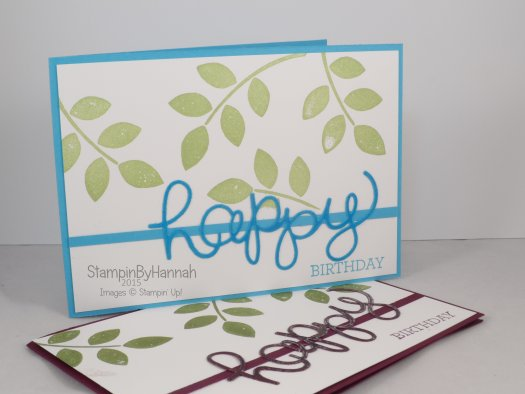 Stampin' Up! UK embossed die cutting technique video