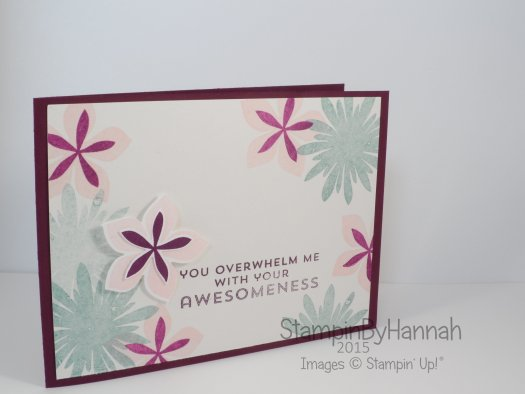Stampin' Up! UK Flower Patch Swaps