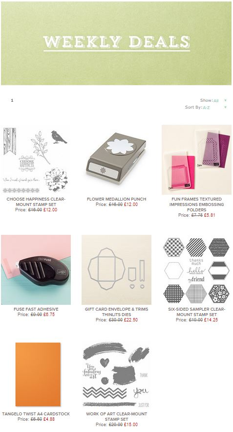 Stampin' Up! Weekly Deals Week in Review