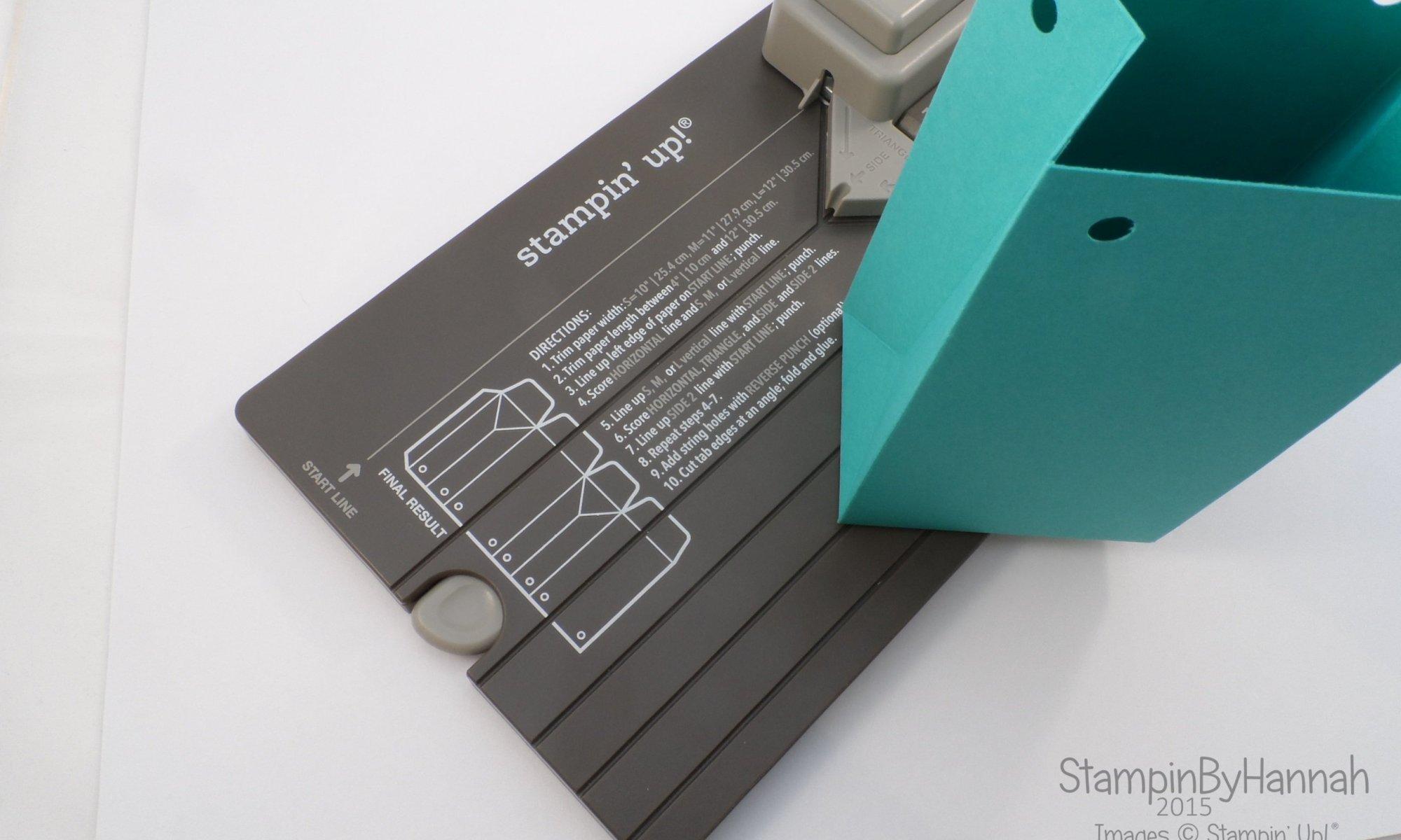 Stampin' Up! UK Gift bag punch board tutorial