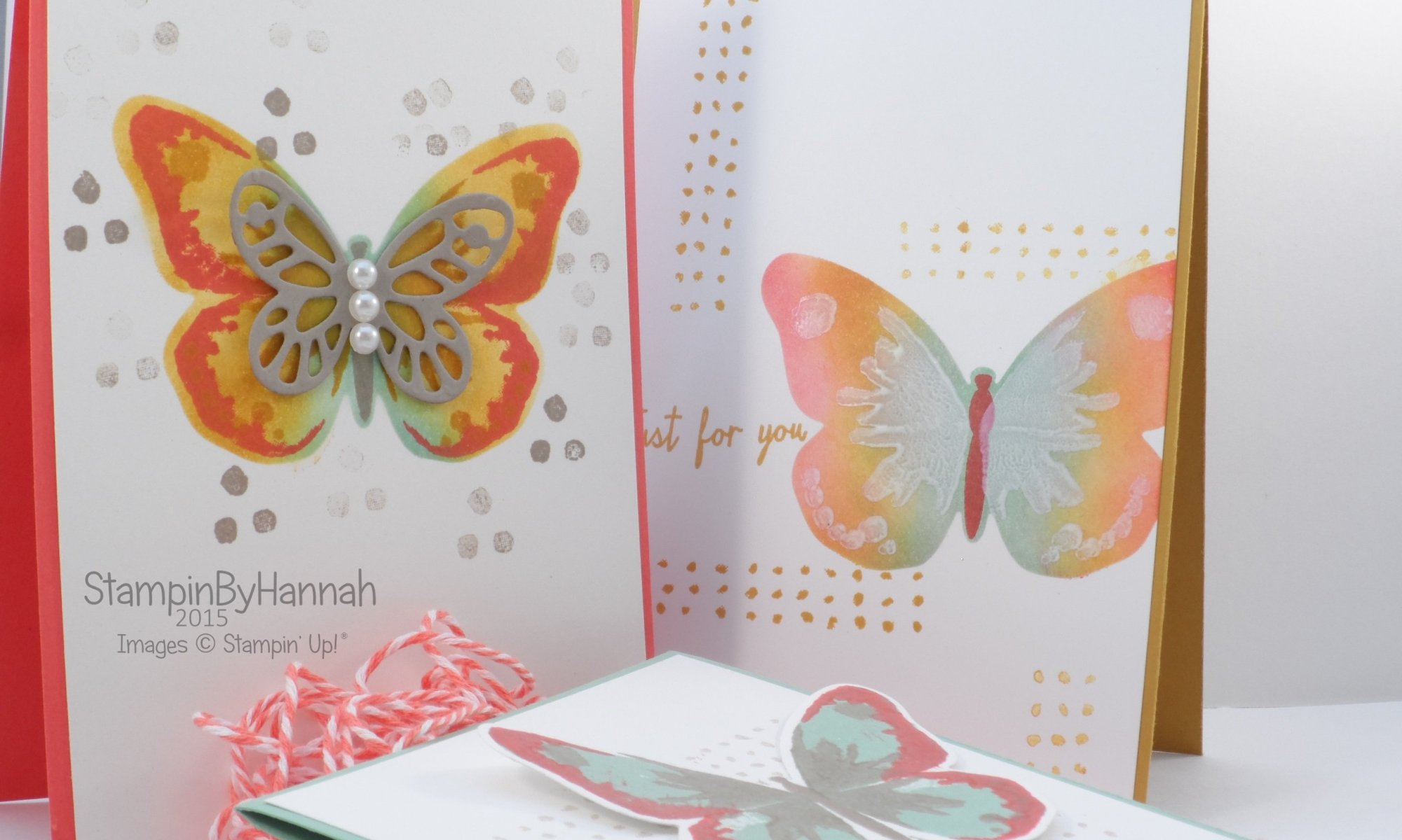 Stampin' Up! UK Watercolour wings cards
