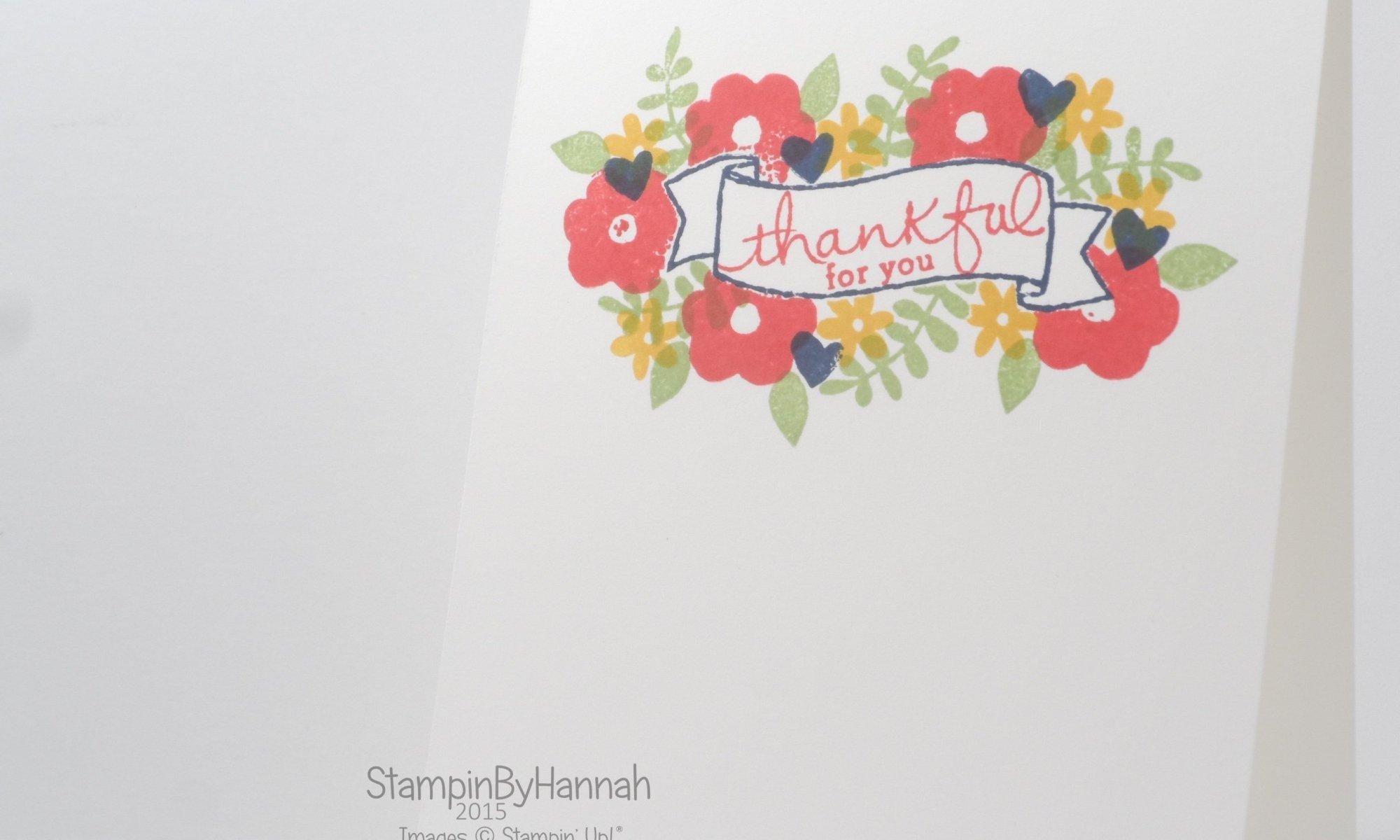 Stampin' Up! UK Endless Thanks Masking card making